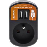 SENCOR SPC 70 BK utičnica + USB punjač za mobilni