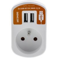 SENCOR SPC 70 WH utičnica + USB punjač za mobilni